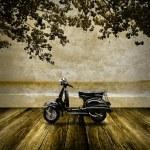 Nostalgia concept, Scooter on the beach — Stock Photo #27315467