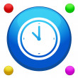 Clock icon button vector with 4 color background included — Stock Vector