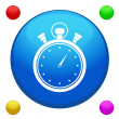 Stopwatch icon button vector with 4 color background included — Stock Vector