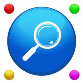 Search icon button with 4 color background included — Stock Vector