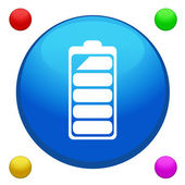 Battery icon button vector with 4 color background included — Stock Vector