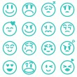 Emotion icons set, Vector illustration EPS version 8  — Stock Vector