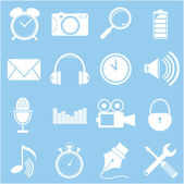Smart phone app icon set - vector icons — Wektor stockowy
