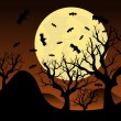 Stock Vector: Halloween background, Vector illustration