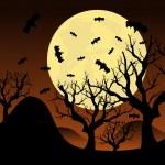 Halloween background, Vector illustration — Stock Vector