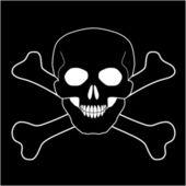 череп со скрещенными костями, векторный icon — Cтоковый вектор