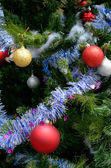 Christmas tree with ornament — Stok fotoğraf