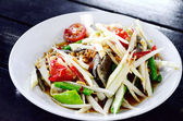 Green papaya salad with salted crab in Thai style — Foto Stock