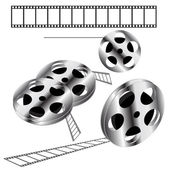 Movie films spool with film, EPS 9 — Stockvektor