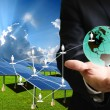 Stock Photo: Solar cell business