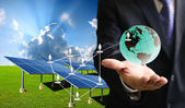 Solar cell business — Stock Photo
