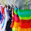 Lady clothes on rack — Stock Photo
