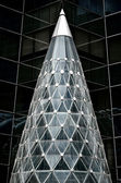 Abstract funnel glass building — 图库照片