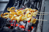 Barbecue Squid — Stock Photo