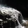 Waterfall on rock at Tham Yai Waterfall — Stock Video