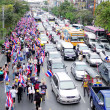 BANGKOK,THAILAND - NOVEMBER 22 : Anti-government protesters to the Democracy Monument. The protest Against The Amnesty bill in Pratunam, Bangkok, capital of Thailand on 22 November 2013  — Stock Photo