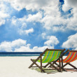 Beach chairs — Stock Photo #36753705