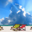 Beach chairs — Stock Photo #36759519