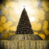 复古风格圣诞树 — 图库照片