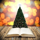 Read bible in christmas day — Stock fotografie