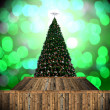 Stock Photo: Christmas tree with bokeh background