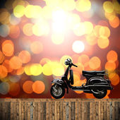 Travel with motorcycles concept — Stock Photo