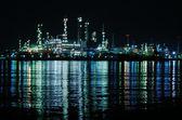 Night scene of Oil refinery — Stock Photo