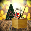 Play music in holiday concept, Christmas day — Stock Photo
