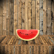 Eat watermelon in summer time, Vintage style — Stock Photo #37549143