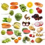 Set of organic fruit, Fruit isolated — Stock Photo #37644673