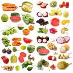 Set of organic fruit, Fruit isolated — Stock Photo #37644687