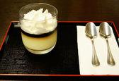 Pumpkin pudding dessert — Stock fotografie
