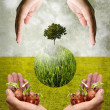 Help together for save the earth concept — Stock Photo #39796027