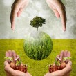 Help together for save the earth concept — Stock Photo
