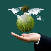 World green business and sustainable business concept — Stock Photo