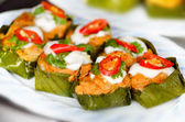 Steamed fish with curry paste — Stock Photo