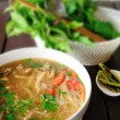 Stock Photo: Thai noodle with vegetable, Delicious food