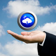 Concepto de Cloud computing — Foto de Stock