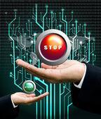 Stop button concept — Stock Photo