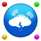 Cloud icon button vector with 4 color backgrounds included — Vettoriale Stock