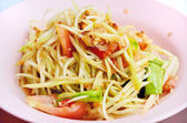 Papaya salad or Sum-Tam, Thai spicy salad — Foto Stock