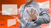 Analyzer working with touch screen — Stockfoto