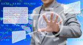 Analyzer working with touch screen — Stock Photo