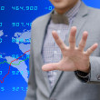 Analyzer warning about risk in stock exchange concept — Stock Photo