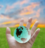 Change the world concept, Global warming protection — Stock Photo
