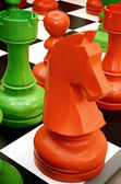 Colorful chess knight — Foto Stock