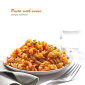 Pasta with tomao sauce — Stock Photo