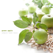 Juicy green apples — Stock Photo
