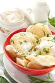 Dumplings with cheese — Stock Photo