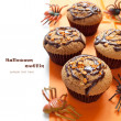 Royalty-Free Stock Photo: Halloween muffin  with chocolate cream